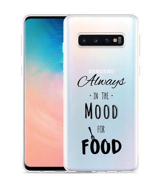 Just in Case Galaxy S10 Hoesje Mood for Food Black