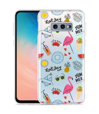 Just in Case Galaxy S10 Lite Hoesje Summer Flamingo