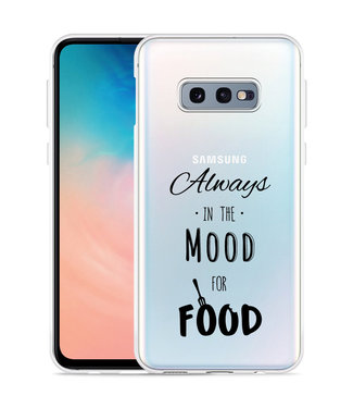 Just in Case Galaxy S10 Lite Hoesje Mood for Food Black