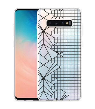 Just in Case Galaxy S10 Plus Hoesje Art Lines
