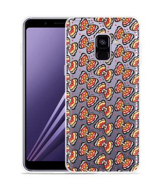 Just in Case Samsung Galaxy A8 Plus 2018 Hoesje Butterflies