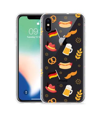 Just in Case Apple iPhone X / Xs Hoesje Duits Patroon
