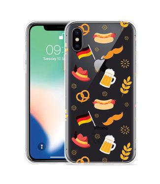 Just in Case Apple iPhone Xs Hoesje Duits Patroon