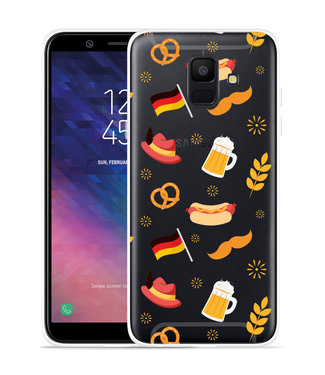 Just in Case Galaxy A6 2018 hoesje Duits Patroon