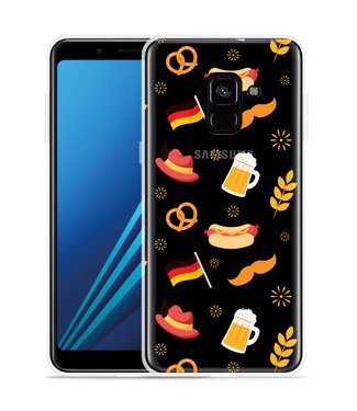Just in Case Samsung Galaxy A8 2018 Hoesje Duits Patroon