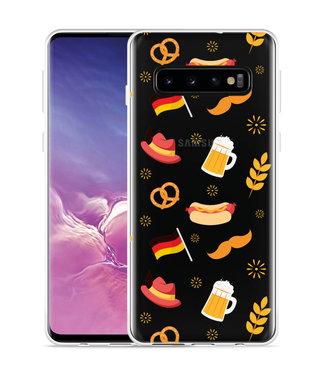 Just in Case Galaxy S10 Hoesje Duits Patroon