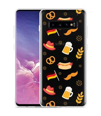 Just in Case Galaxy S10 Plus Hoesje Duits Patroon