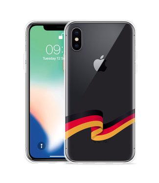 Just in Case Apple iPhone X / Xs Hoesje Duitse Vlag