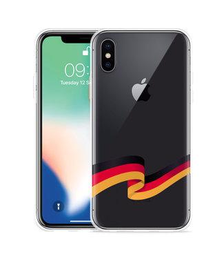 Just in Case Apple iPhone Xs Hoesje Duitse Vlag
