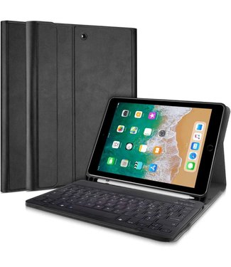 Just in Case Just in Case Apple iPad 9.7(2017/2018) Premium AZERTY Bluetooth Keyboard Cover(Black)