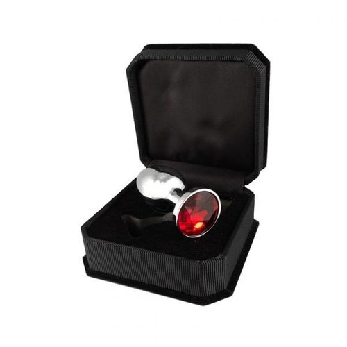 Rimba Luxury Metal Butt Plug XS - with crystal - 5.7 x 2.4 cm