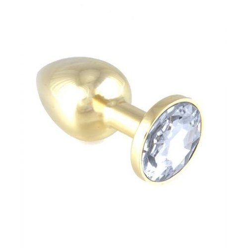 Rimba Luxury Gold colored Butt Plug Small - 7.3 x 3 cm