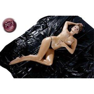 Fetish Collection Laklaken 200 x 230 cm - zwart