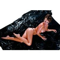 Laklaken 200 x 230 cm - noir