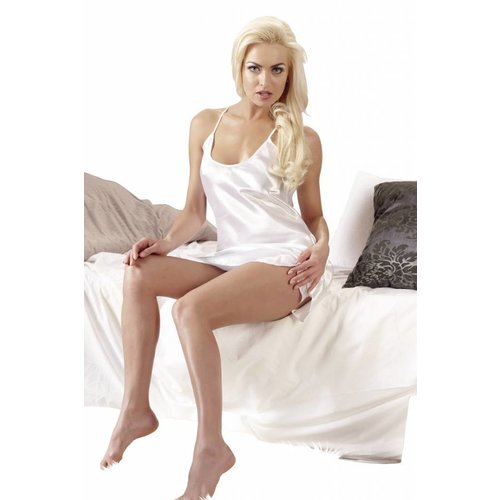 Cottelli Collection White satin negligee
