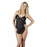 Black babydoll with open cups
