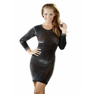 Cottelli Collection Sexy glitter dress with long sleeves