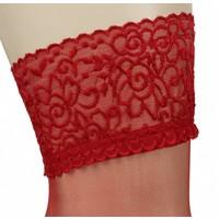 hold-up rouge avec top en dentelle