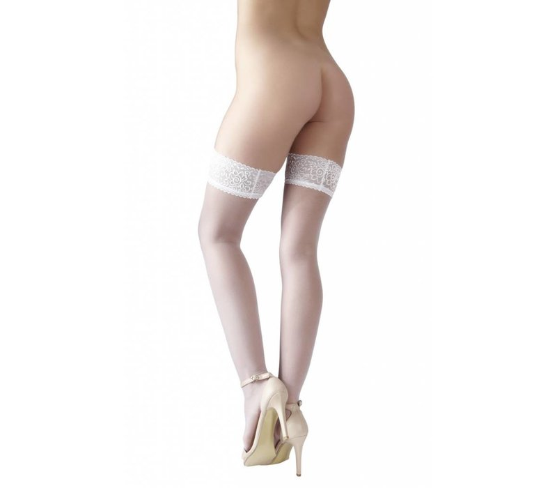 White hold-ups with lace top