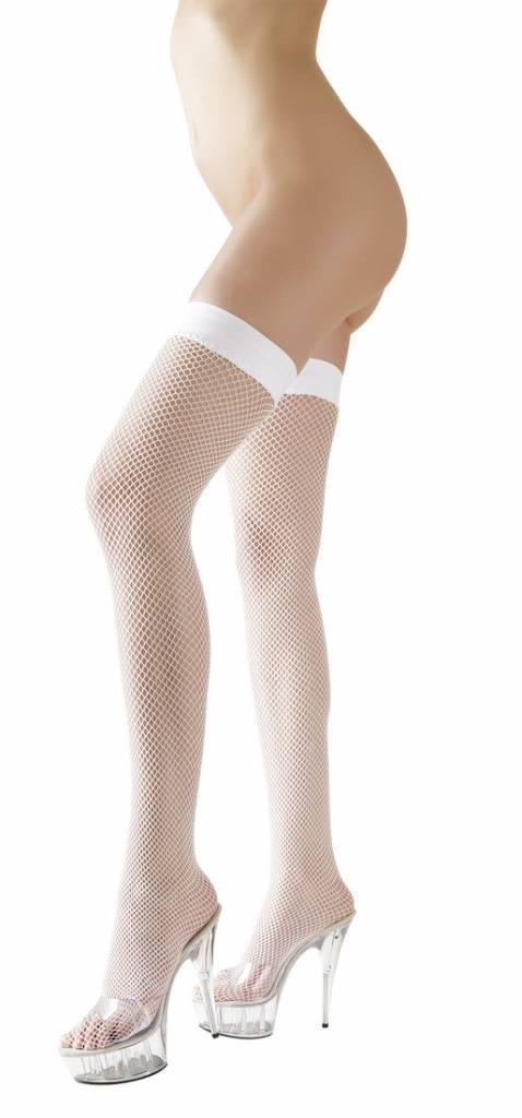 Cottelli Collection Witte netkousen hold-ups