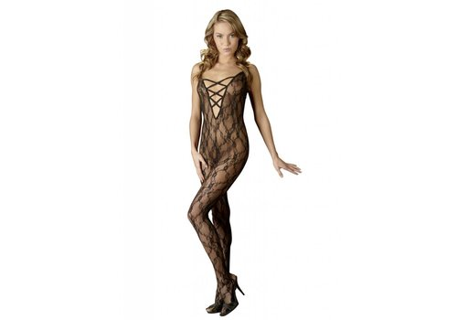 Mandy Mystery Lingerie Invitant crotchless catsuit avec le clivage