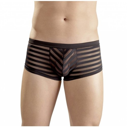 Svenjoyment Black semi-transparent men's short