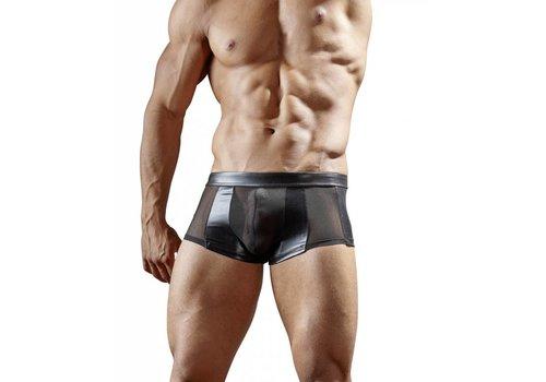 Svenjoyment Black wetlook boxer with semi-transparent power net Size S