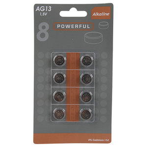 LR44 (AG13) 1.5V knoopcel batterij - 8 stuks