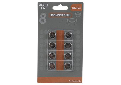 LR44 (AG13) pile bouton 1.5V - 8 pièces