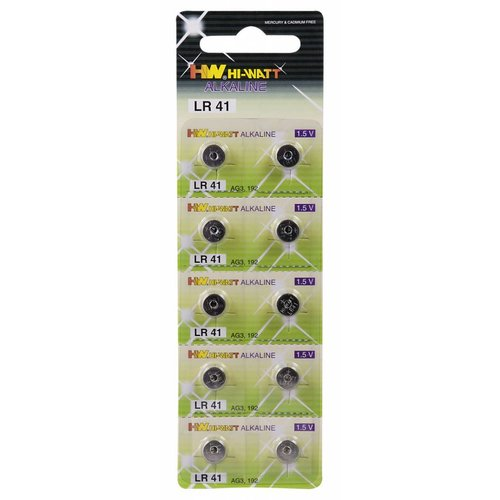 LR41 (AG3) 1.5V button cell batteries - 10 pieces