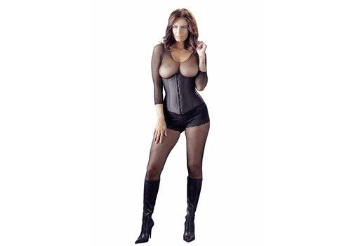 Cottelli Collection corset noir sans tasses