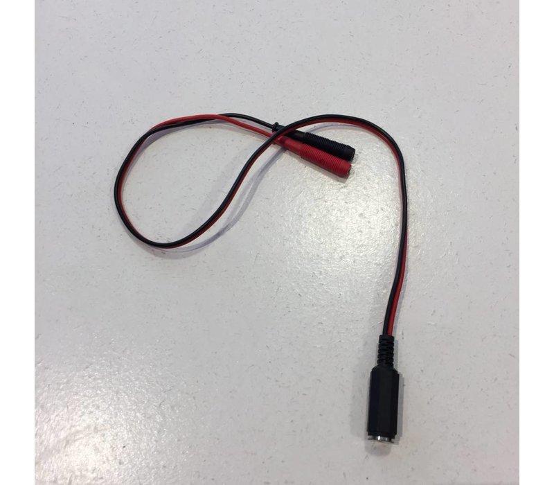 Electrosex adaptateur - 2.5mm femelle à 2 x 2 mm