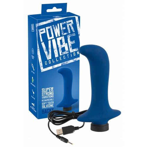 Power Vibe Collection Backy - rechargeable anal vibrator - 12.8 x 2.8 cm