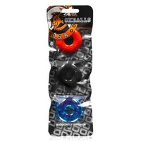 Ringer Cock Ring 3-Pack - Multi-color