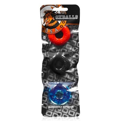 Oxballs Sonnerie Cock Ring 3-Pack - Multi-couleur