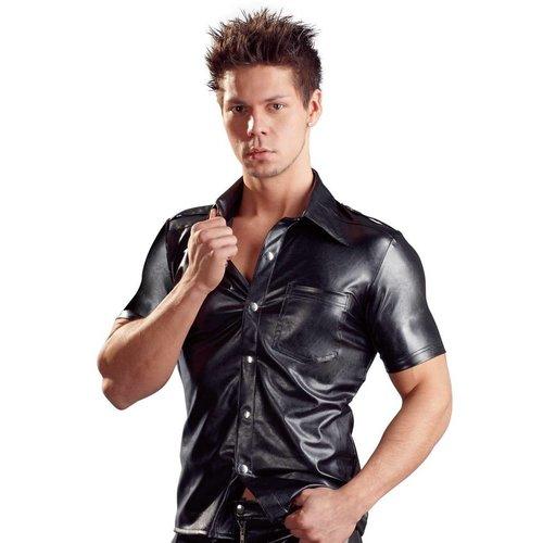 Svenjoyment Art Leather men's shirt with buttons