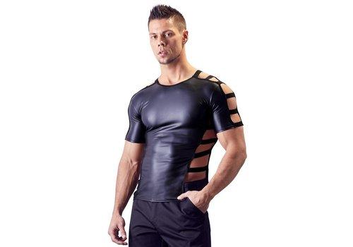 Svenjoyment Wetlook shirt met open zijkant