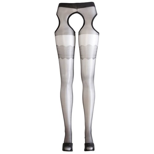 Cottelli Collection Tights with open crotch and sides