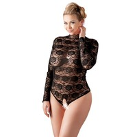 Crotchless lace body