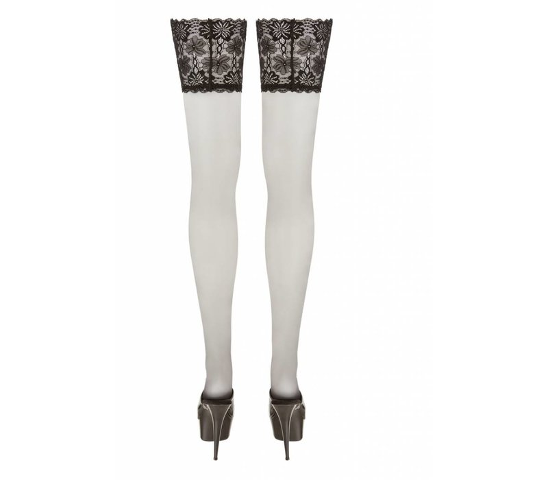 Zwarte Plus Size hold-ups met kanten band