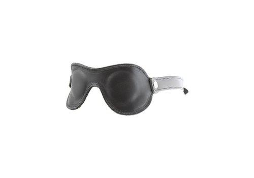 Mister B Lederen oogmasker - verstelbaar