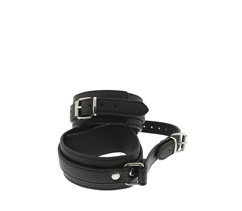 Ankle cuffs with connection strap