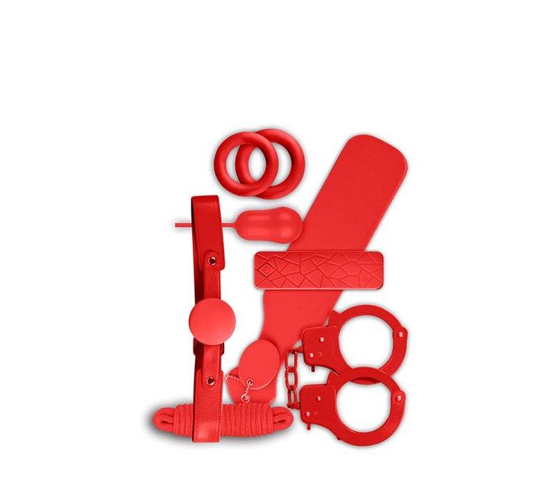 Ensemble-cadeau Bondage 6 pièces Rouge