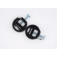 Adjustable plastic nipple clamps with ring