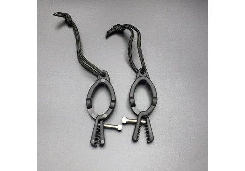 Rimba Adjustable Nipple clamps - Black plastic