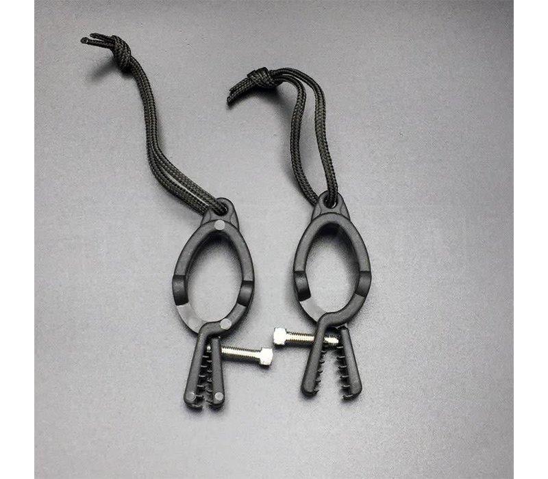 Adjustable Nipple clamps - Black plastic