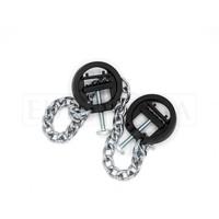 Adjustable plastic Nipple Clamps on Chain