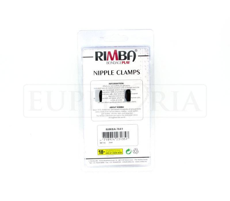 Adjustable nipple clamps SMALL - with chain