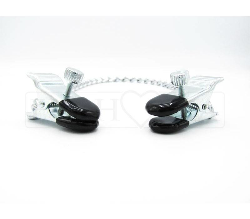 Adjustable nipple clamps MEDIUM - with chain