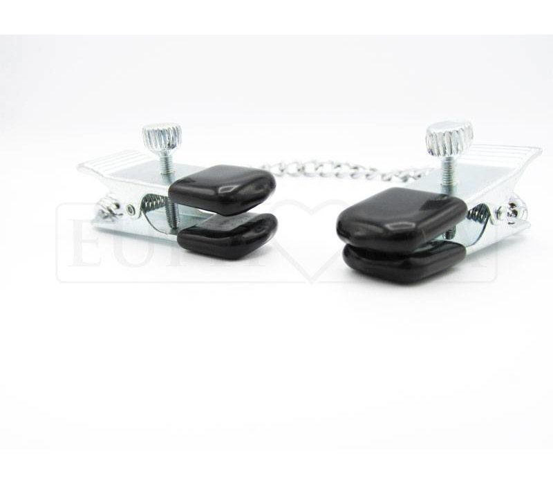 Adjustable nipple clamps LARGE - with chain